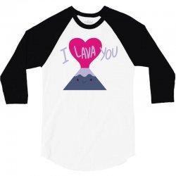 cool i lava you valentine's day 3/4 Sleeve Shirt   Artistshot