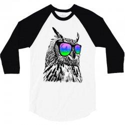 cool owl 3/4 Sleeve Shirt | Artistshot
