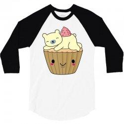 cool polar bear cupcake t shirt 3/4 Sleeve Shirt | Artistshot