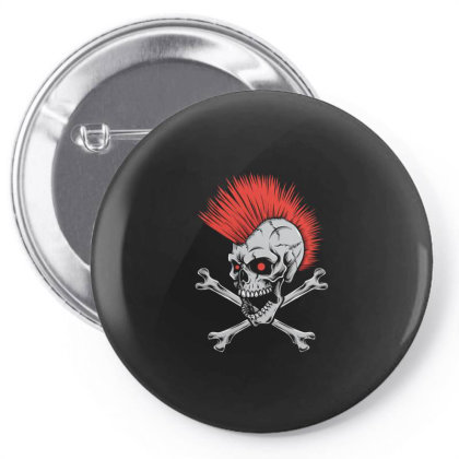 Punk Skull Mohawk Pin-back Button Designed By Tariart