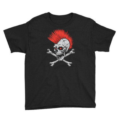 Punk Skull Mohawk Youth Tee Designed By Tariart