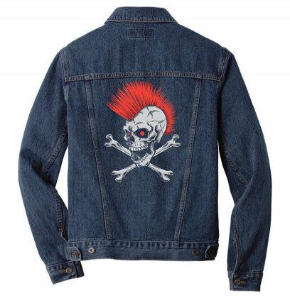 Punk Skull Mohawk Men Denim Jacket Designed By Tariart