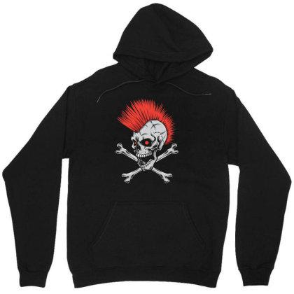 Punk Skull Mohawk Unisex Hoodie Designed By Tariart
