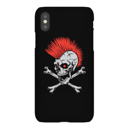 Punk Skull Mohawk Iphonex Case Designed By Tariart