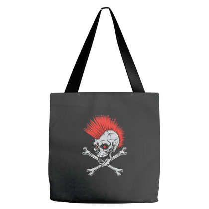 Punk Skull Mohawk Tote Bags Designed By Tariart