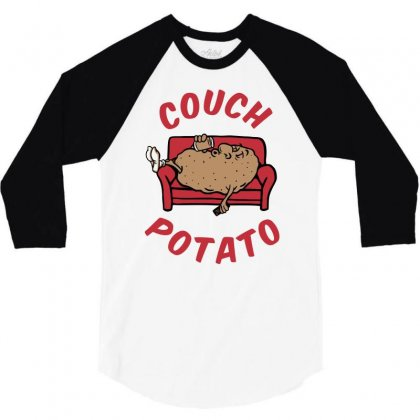 Couch Potato 3/4 Sleeve Shirt Designed By Monstore