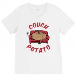couch potato V-Neck Tee | Artistshot