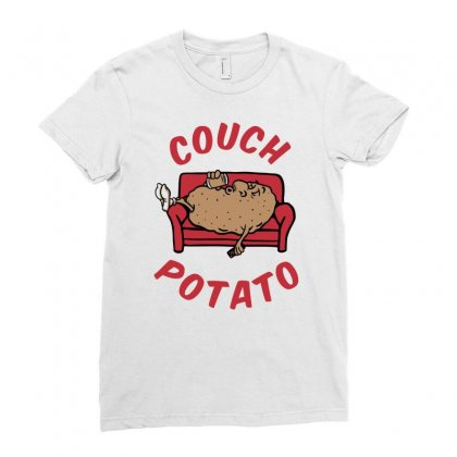 Couch Potato Ladies Fitted T-shirt Designed By Monstore