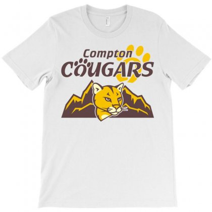 Cougar Mascot And Mountain T-shirt Designed By Monstore