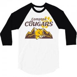 cougar mascot and mountain 3/4 Sleeve Shirt | Artistshot