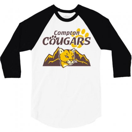 Cougar Mascot And Mountain 3/4 Sleeve Shirt Designed By Monstore