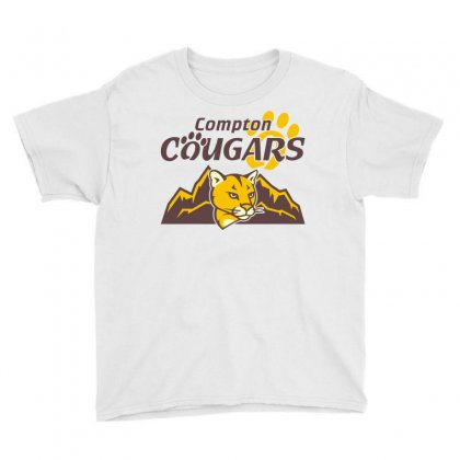 Cougar Mascot And Mountain Youth Tee Designed By Monstore