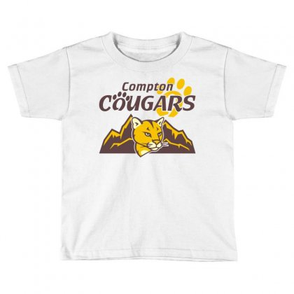 Cougar Mascot And Mountain Toddler T-shirt Designed By Monstore
