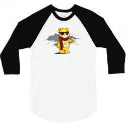 couldn't care less bear 3/4 Sleeve Shirt | Artistshot