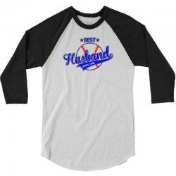 Best Husband Since 1969 - Baseball Husband 3/4 Sleeve Shirt | Artistshot