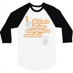 cowbell 3/4 Sleeve Shirt | Artistshot