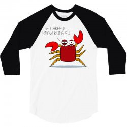 crab fu 3/4 Sleeve Shirt | Artistshot