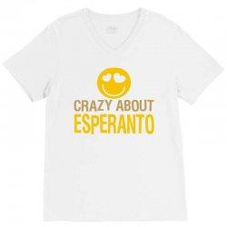 crazy about esperanto V-Neck Tee | Artistshot