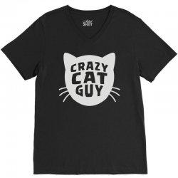 crazy cat guy V-Neck Tee | Artistshot