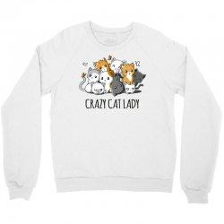 crazy cat lady (4) Crewneck Sweatshirt | Artistshot