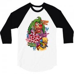 crazy clown 3/4 Sleeve Shirt   Artistshot
