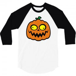 crazy pumpkin 3/4 Sleeve Shirt | Artistshot