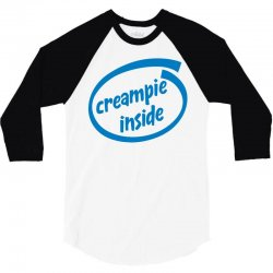 creampie inside 3/4 Sleeve Shirt | Artistshot