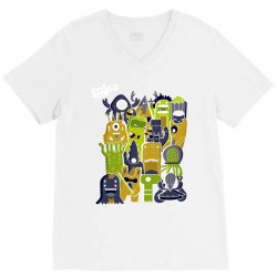creatures from outer space V-Neck Tee | Artistshot