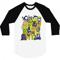 creatures from outer space 3/4 Sleeve Shirt | Artistshot
