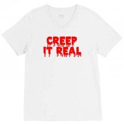 creep it real (2) V-Neck Tee | Artistshot