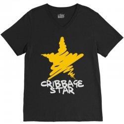 cribbage star V-Neck Tee   Artistshot