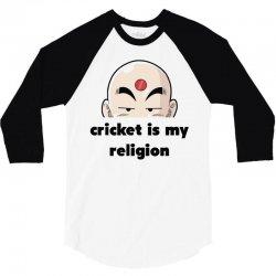 cricket is my religion 3/4 Sleeve Shirt | Artistshot