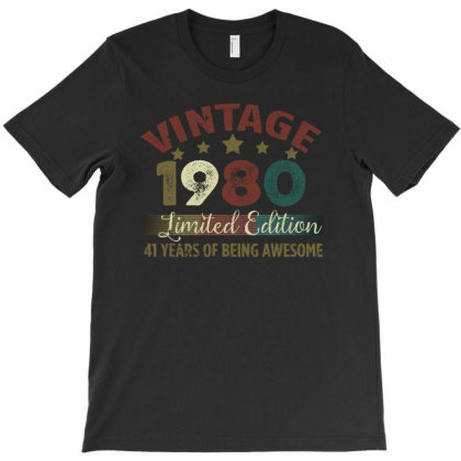 Vintage 1980 Limited Edition 41 Years Of Being Awesome T-shirt Designed By Bettercallsaul