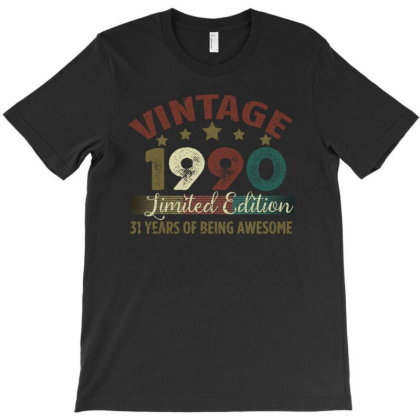 Vintage 1990 Limited Edition 31 Years Of Being Awesome T-shirt Designed By Bettercallsaul