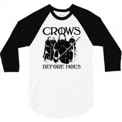 crows before hoes 3/4 Sleeve Shirt | Artistshot