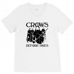 crows before hoes V-Neck Tee | Artistshot
