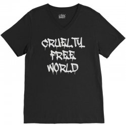 cruelty free world V-Neck Tee   Artistshot