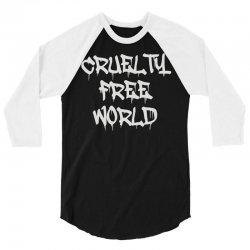 cruelty free world 3/4 Sleeve Shirt   Artistshot