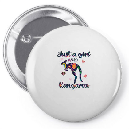 Just A Girl Who Love Kangaroos Pin-back Button Designed By Alparslan Acar