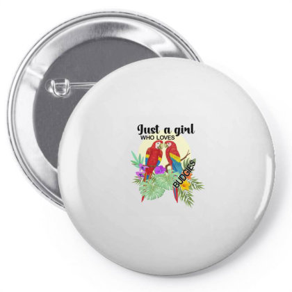 Just A Girl Who Loves Budgies Pin-back Button Designed By Alparslan Acar