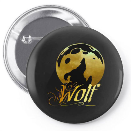 Wolf Pin-back Button Designed By Brayan