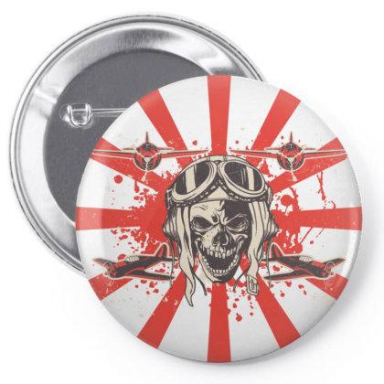 Kamikaze Pin-back Button Designed By Rocknrolla