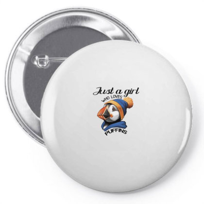 Just A Girl Who Loves Puffins Pin-back Button Designed By Alparslan Acar
