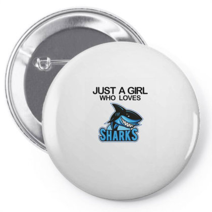 Just A Girl Who Loves Sharks Pin-back Button Designed By Alparslan Acar