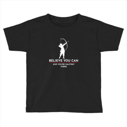 Archery Funny Sayings Bow Arrow Archer Gift Toddler T-shirt Designed By Tasteful Tees