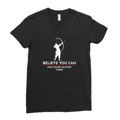Archery Funny Sayings Bow Arrow Archer Gift Ladies Fitted T-shirt Designed By Tasteful Tees