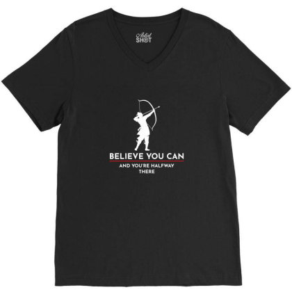 Archery Funny Sayings Bow Arrow Archer Gift V-neck Tee Designed By Tasteful Tees
