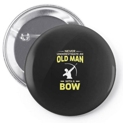 Archery Funny Sayings Bow Arrow Archer Dad Grandpa Gift Pin-back Button Designed By Tasteful Tees