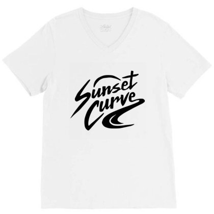 Julie And The Phantoms Sunset Curve V-neck Tee Designed By Tshirtpublic