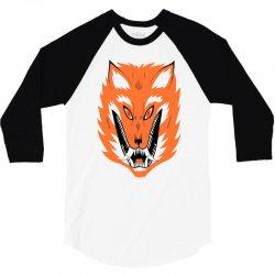 cursed fox 3/4 Sleeve Shirt | Artistshot